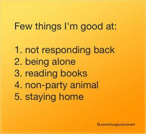 Few things introverts are good at
